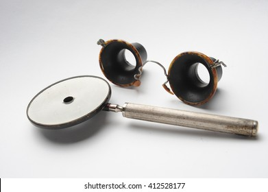 Vintage ophthalmology equipment for determining visual acuity
