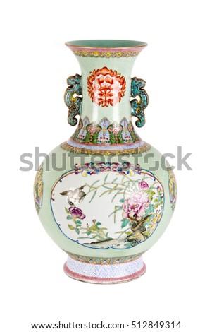 Vintage Oriental Vase On White Background Stock Photo Edit Now