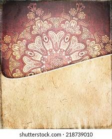 Vintage ornamental background. Invitation card template