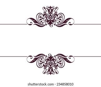 vintage ornate border frame filigree with retro ornament pattern in antique baroque style arabic decorative calligraphy design