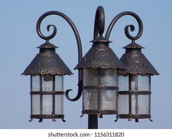 Vintage outdoor lamp, very artistic design.