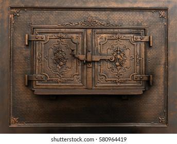 Vintage oven door