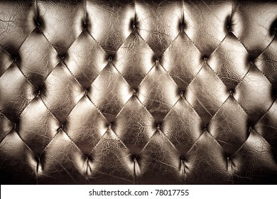 Vintage padding, Texture of vintage padding cushion.
