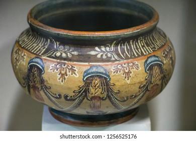 Vintage painted pot