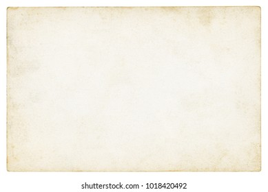 Vintage paper background isolated - (clipping path included) - Shutterstock ID 1018420492