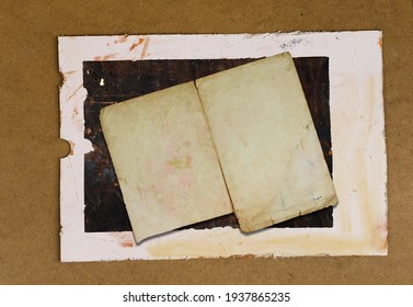Vintage  Paper Image with Dark Brown  and Light Brown Boder