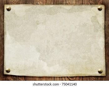 vintage paper on wooden background