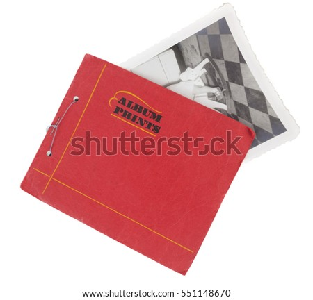 Vintage Paper Photo Album Partial Old Stock Photo Edit Now