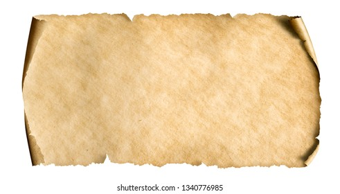 vintage paper sheet isolated on white