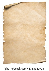 Vintage paper textured object isolated on white