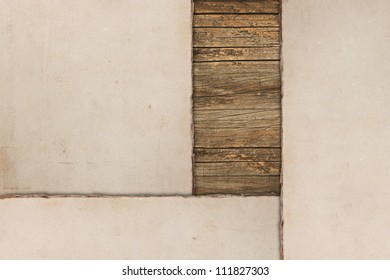Vintage papers on a wooden background