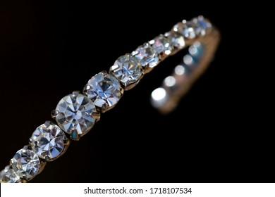 A vintage paste diamante bangle