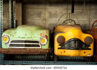 Vintage pedal cars for child.