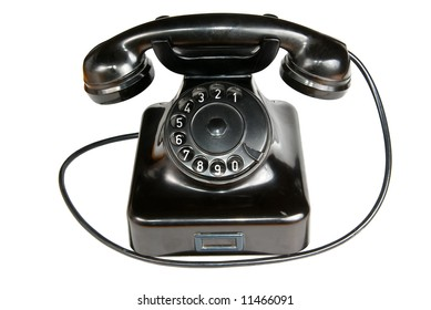 Vintage phone (Clipping path included)