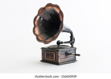 Vintage phonograph pencil sharpener close up