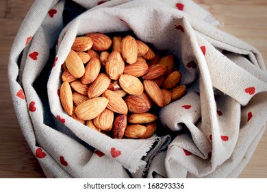 Vintage photo of almond nuts