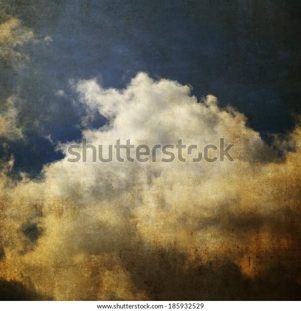 Vintage photo of blue sky