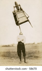 Vintage photo, circa 1900 of a man stand