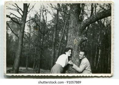 Vintage photo of couple (fifties)