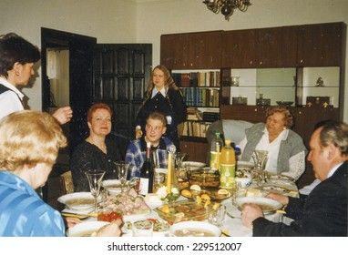 Vintage photo - family party, eighties