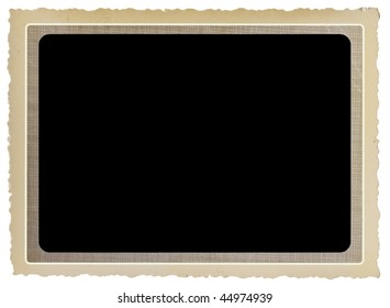vintage photo frame, free copy space isolated on white background
