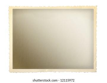 Vintage photo frame with scalloped edge.