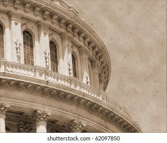 Vintage photo imitation of Washington DC