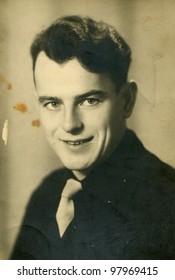 Vintage photo of man (1947)