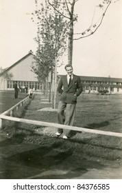 Vintage photo of man (forties)