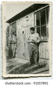 Vintage photo of man (sixties)