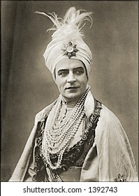 Vintage photo of a Man In A Sultan Outfit