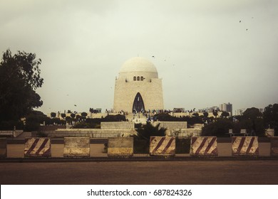 Vintage Photo Mazar e Quaid | Shrine of Founder of Pakistan Jinnah Mausoleum or The final resting place of Quaid-e-Azam Muhammad Ali Jinnah 14 August 23 march independence day Monument landmark