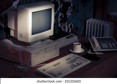 vintage photo of obsolete technology