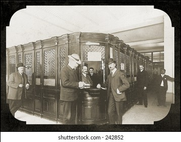 Vintage Photo of an Old Fashioned Bank