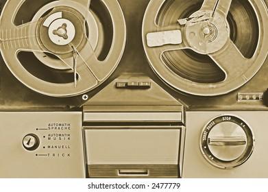 vintage photo - old tape recorder
