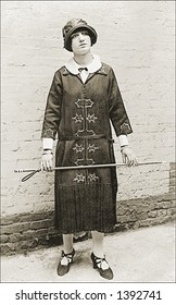 Vintage photo of a Teacher In Dress