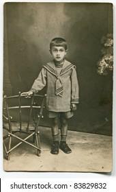 Vintage photo of young boy (twenties)