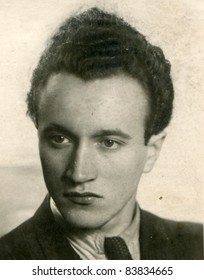 Vintage photo of young man (forties)
