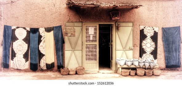 vintage photograph from moroccan house in marrakesh