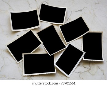 Vintage photographic deckle edged picture frames