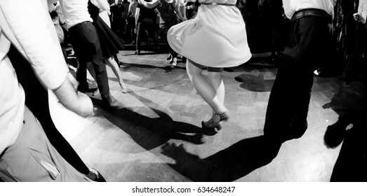 vintage photography in black and white of swing dance couples