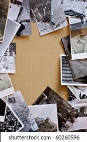Vintage photos background.