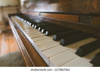 Vintage Piano Closeup
