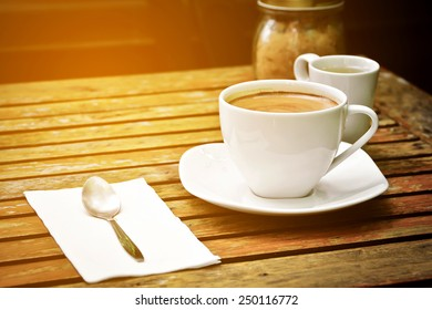 vintage picture of cappuccino coffee