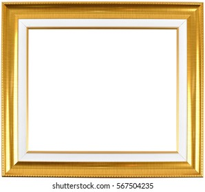 Vintage picture frame isolate on white