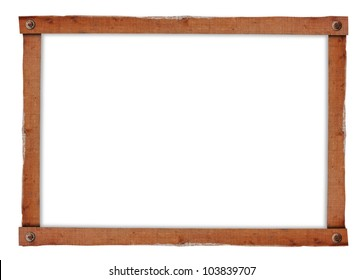 Vintage picture frame isolated on a white background (Save Paths For design work)