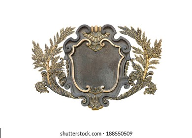 Vintage picture frame isolated over white background , clipping path