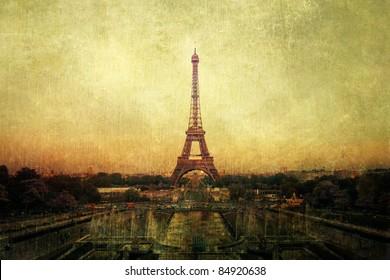 vintage picture of Paris