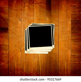 Vintage Pictures on wooden background