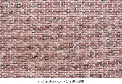 Vintage pink, black and red brick wall background texture. Architecture grunge detail abstract theme. Home, office or loft design backdrop style.